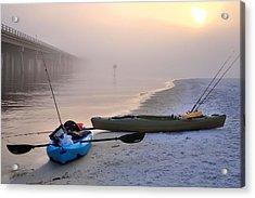 Kayak Destin Acrylic Print by JC Findley