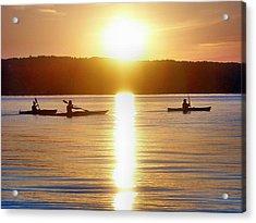 Kayak Family Acrylic Print by Bill Noonan