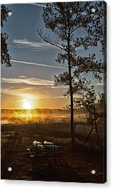 Acrylic Print featuring the photograph Kayak Morning by Margaret Palmer