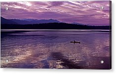 Acrylic Print featuring the photograph Kayak On Dabob Bay by Greg Reed