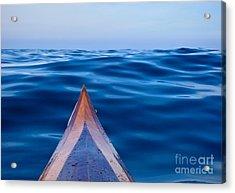 Kayak On Velvet Blue Acrylic Print