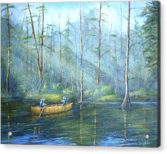 Kayak Rays Acrylic Print by Rich Kuhn