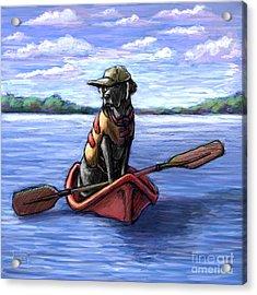 Kayak Ride Acrylic Print by Kathleen Harte Gilsenan