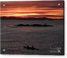Acrylic Print featuring the photograph Kayak Sunset by Gayle Swigart