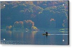 Kayaking Acrylic Print by ??? / Austin