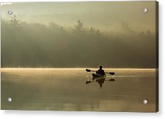 Kayaking At Sunup Acrylic Print