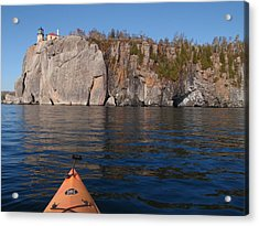Acrylic Print featuring the photograph Kayaking Beneath The Light by James Peterson