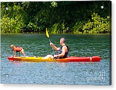 Kayaking Buddies Acrylic Print