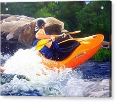 Kayaking Fun Acrylic Print by Cireena Katto