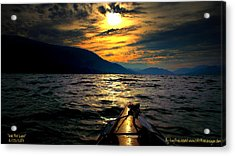 Kayaking Acrylic Print by Guy Hoffman