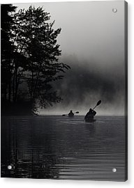 Kayaking In The Fog Acrylic Print