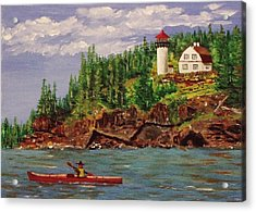 Kayaking The Coast Acrylic Print