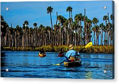 Acrylic Print featuring the photograph Kayaking Weeki Wachee by Pamela Blizzard