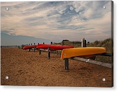 Acrylic Print featuring the photograph Kayaks by Amazing Jules
