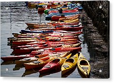 Kayaks At Rockport Acrylic Print