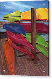 Kayak's At Tide Point Acrylic Print