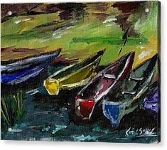 Kazinga Channel Boats Acrylic Print