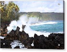 Keanae Lava Rocks Acrylic Print by Jenna Szerlag