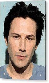 Keanu Reeves Portrait Acrylic Print