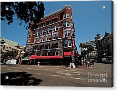 Keating Hotel Acrylic Print by Russell Christie