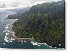 Kee Beach Along The Na Pali Coast - Kauai Hawaii Acrylic Print by Brian Harig