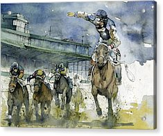 Keeneland  Acrylic Print by Michael  Pattison