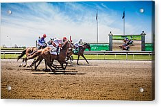 Keeneland Racing Acrylic Print by Keith Allen