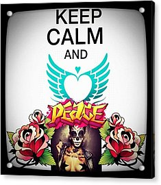 Keep Calm And Peace Acrylic Print