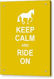 Keep Calm At Grand Prix Acrylic Print by JAMART Photography