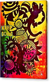 Keep Going Acrylic Print by Currie Silver