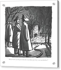 Keep It Under Your Hat Acrylic Print by Peter Arno