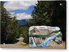 Keep Maine Beautiful Acrylic Print