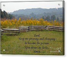 Keep Me Growing Acrylic Print