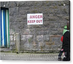 Keep Out Aran Islands Ireland Acrylic Print