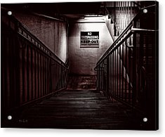 Keep Out Danger Of Drowning Acrylic Print by Bob Orsillo