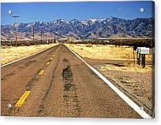 Keep Right On Acrylic Print