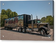 Keep Those Wheels A Truckin Acrylic Print