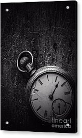 Keeping Time Black And White Acrylic Print by Edward Fielding
