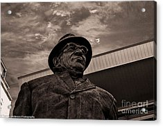 Keeping Watch Bw Acrylic Print by Tommy Anderson