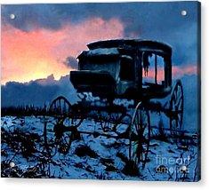 Kegs Carriage Acrylic Print by Tom Straub