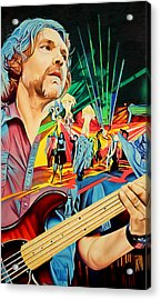Acrylic Print featuring the painting Keith Moseley At Horning's Hideout by Joshua Morton