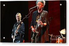 Keith Richards And Eric Clapton Acrylic Print by Marvin Blaine