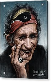 Keith Richards Acrylic Print by Andre Koekemoer