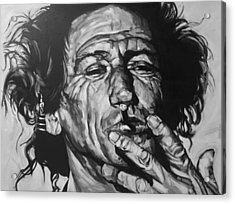 Keith Richards Acrylic Print by Steve Hunter