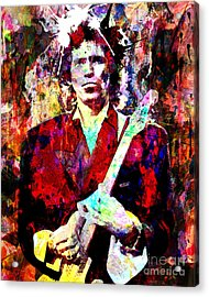 Keith Richards - The Rolling Stones Acrylic Print