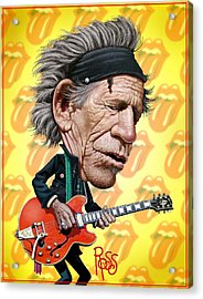 Acrylic Print featuring the digital art Keith Richards by Scott Ross