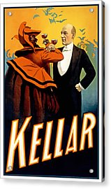 Kellar Toasts The Devil Acrylic Print by Terry Reynoldson