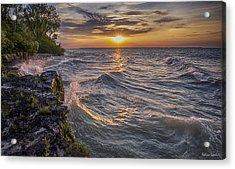 Kelleys Island At Sunset Acrylic Print