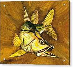 Acrylic Print featuring the painting Kelly B's Snook by Steve Ozment