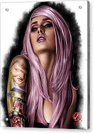 Kelly Acrylic Print by Pete Tapang